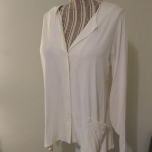 Fat Hat Clothing Cream Button Up Cardigan NWT